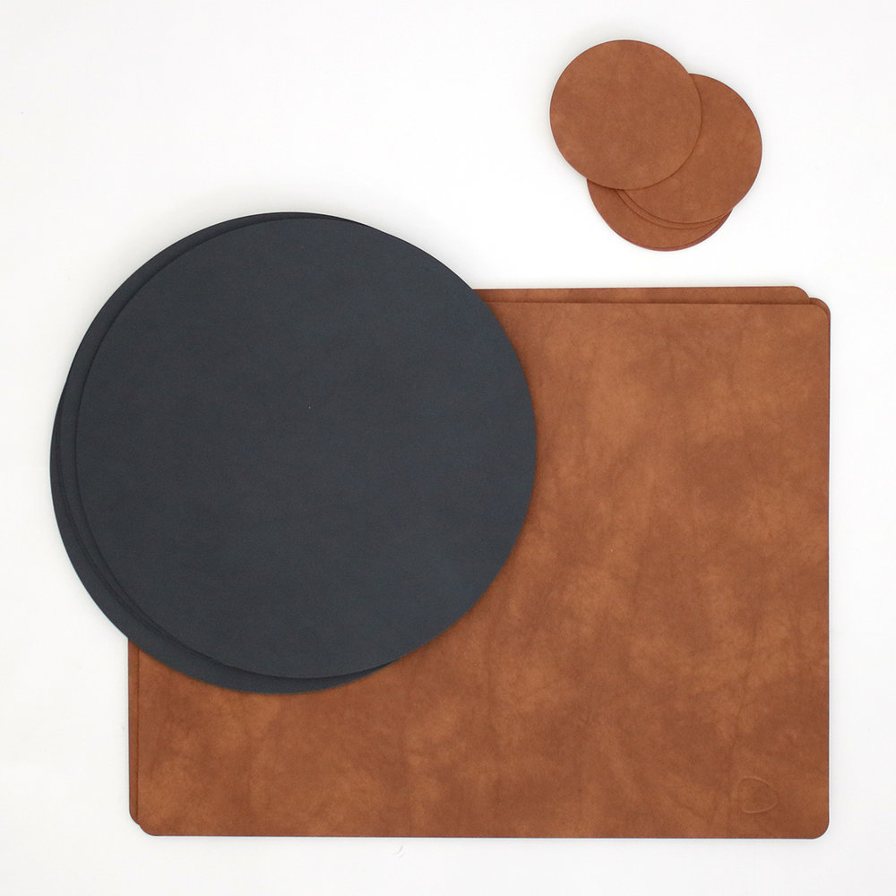 Ordinaire Recycled Leather Table Mats U0026 Coasters