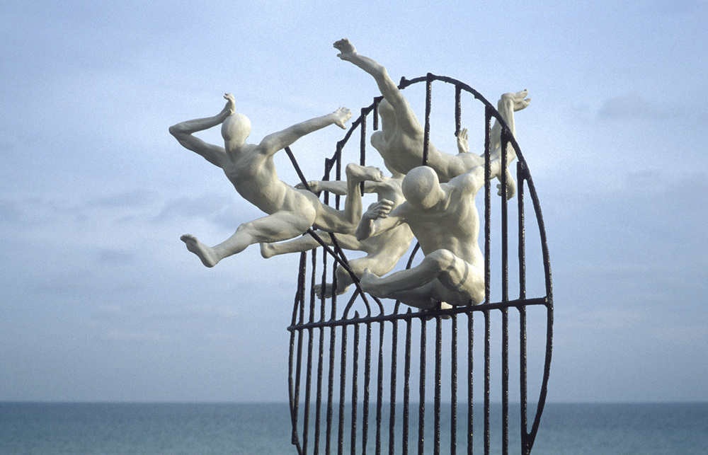 Flight of the Langoustine, awarded a place on Hove Plinth, Hove Promenade. Work in progress