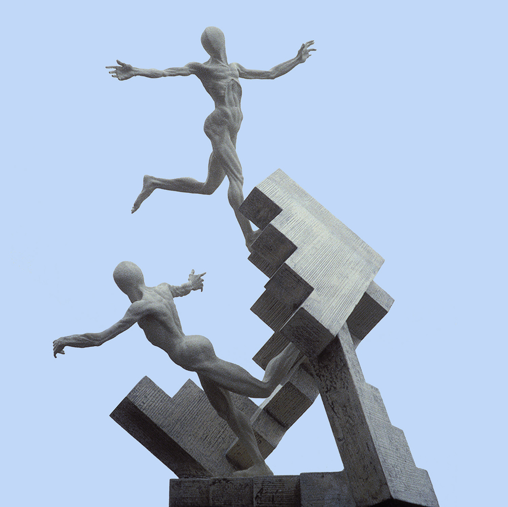 Les Escaliers, Royal British Society of Sculptors, London, Annual Show, 2000
