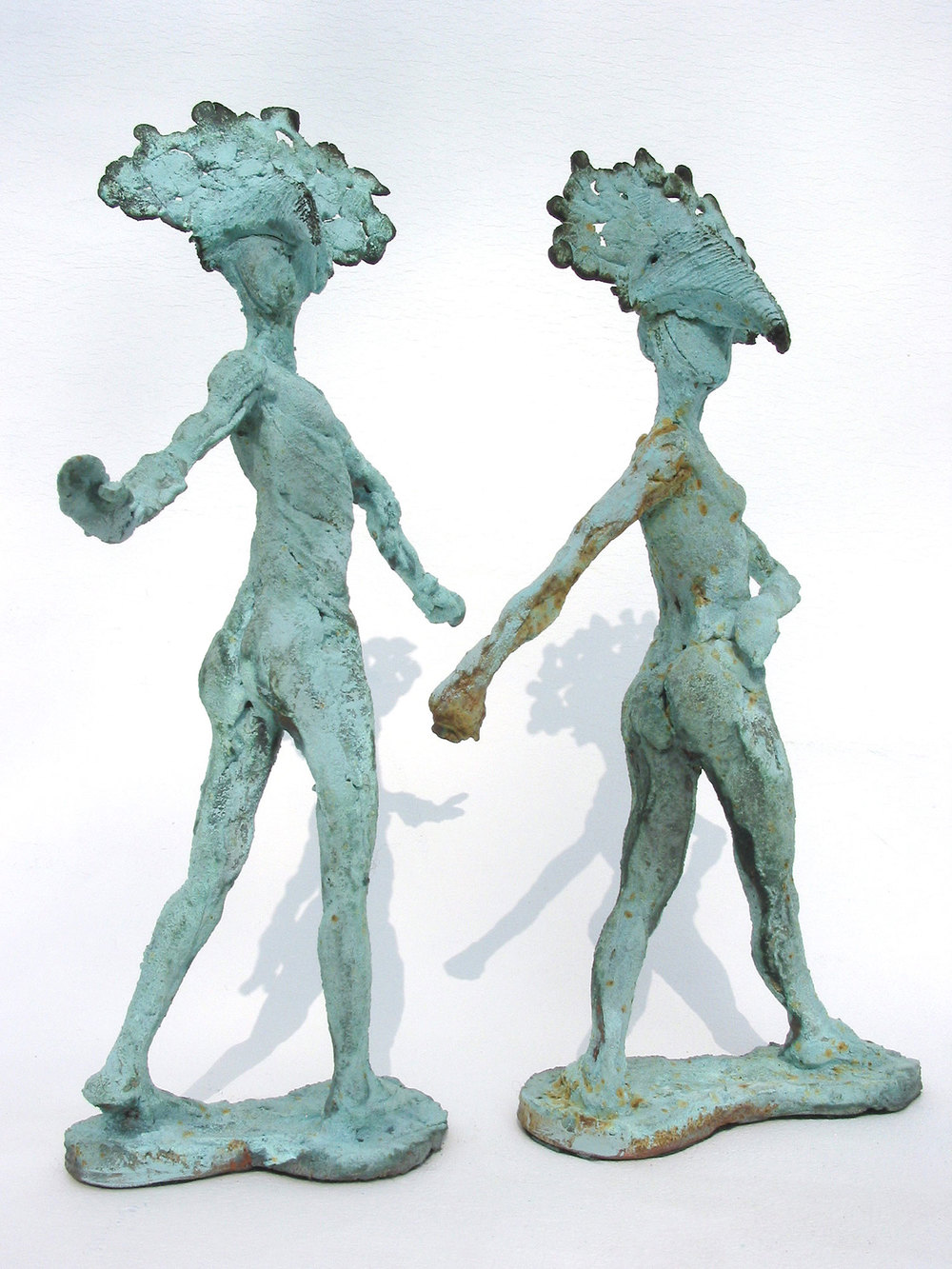 Seirenes   ©  36cm high x 36cm wide  Unique  The mythological Greek bird women. Several trips to Venice have also left their mark – a city where theatre and life are one and plague masks still abound.