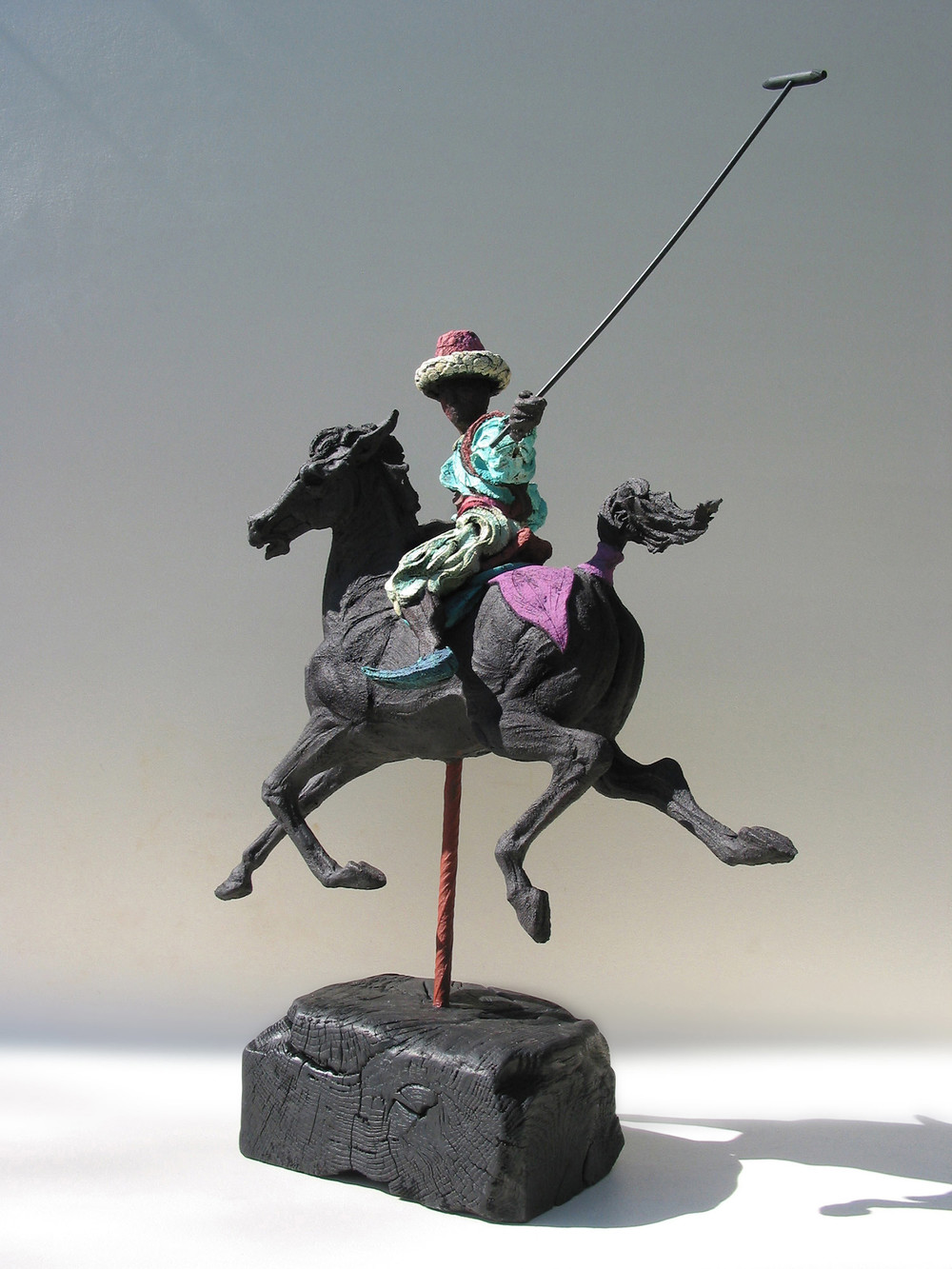 Persian Polo lll   ©  74 cm high x 58 cm wide  Unique