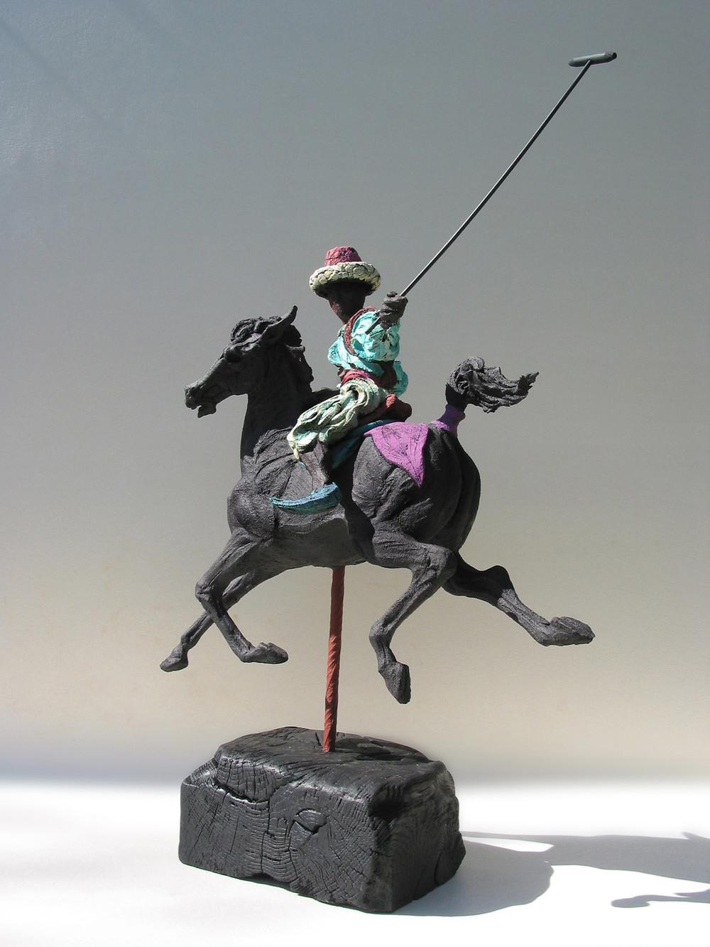 Persian Polo lll  ©  74 cm high x 58 cm wide  Unique