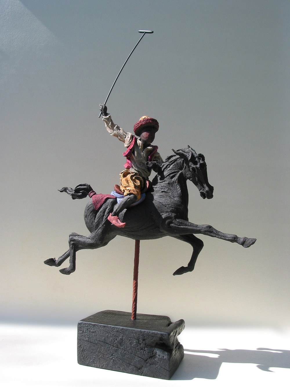 Persian Polo ll   ©  95 cm high x 62 cm wide  Unique