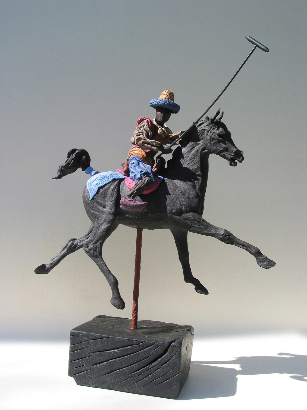 Persian Polo lV   ©  74 cm high x 56 cm wide  Unique
