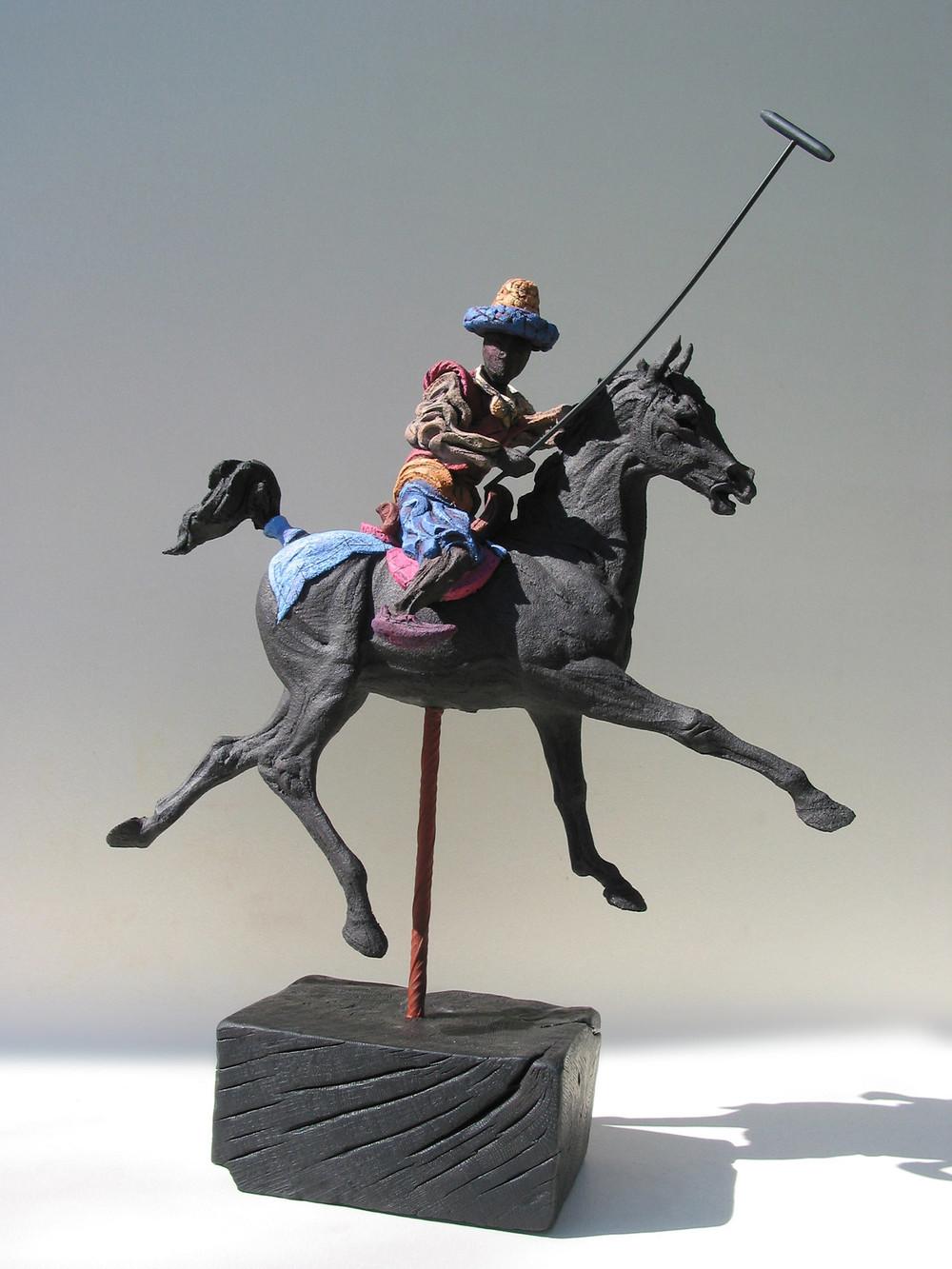 Persian Polo lV  ©  74 cm high x 56 cm wide  Unique