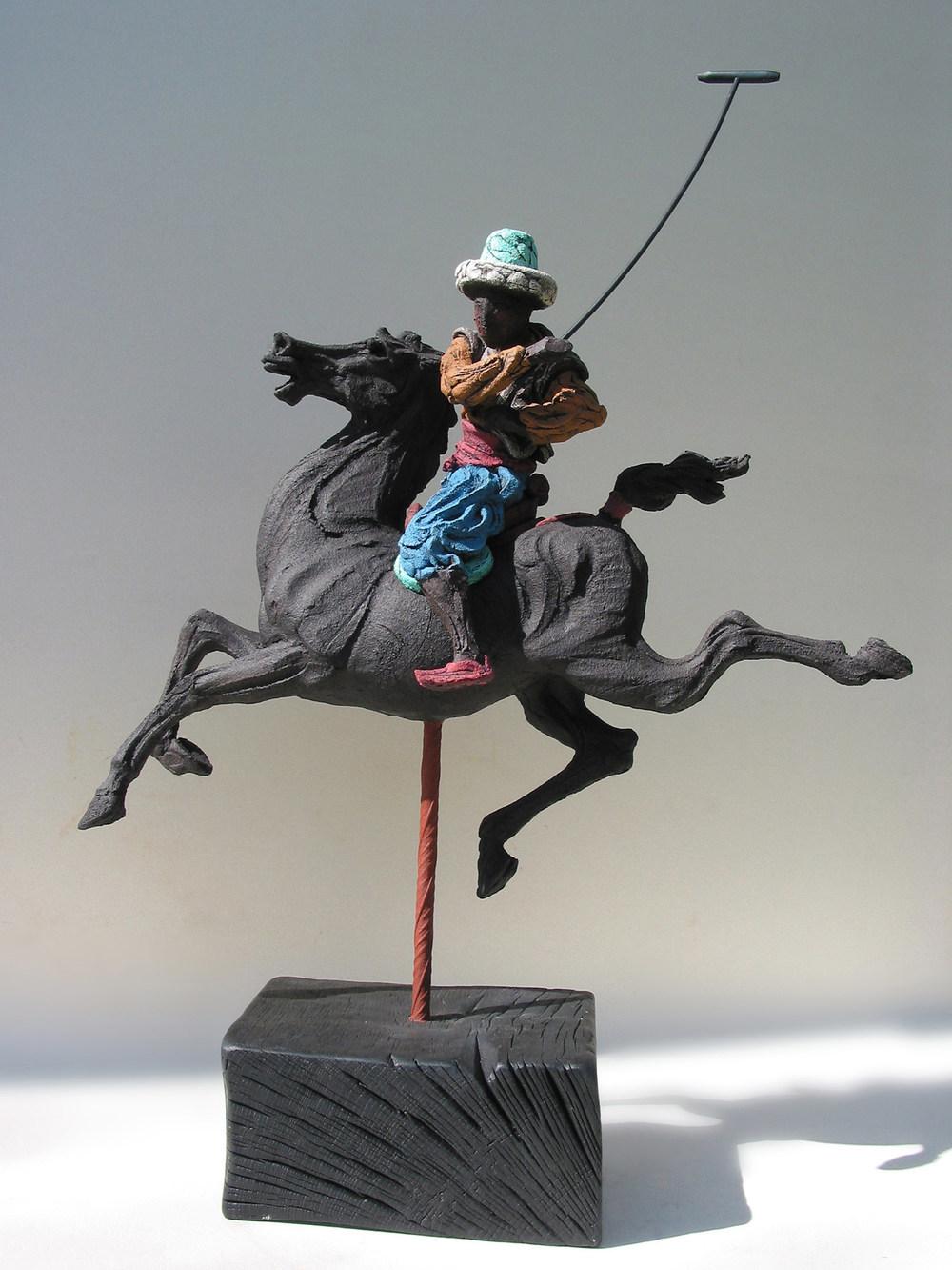 Persian Polo l  ©  78 cm high x 55 cm wide  Unique
