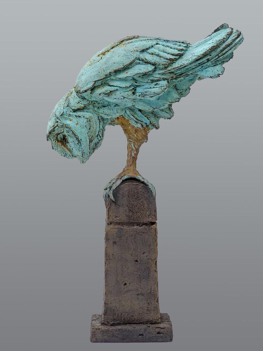Moon Owl ll  ©  45 cm high x 28 cm wide  Unique