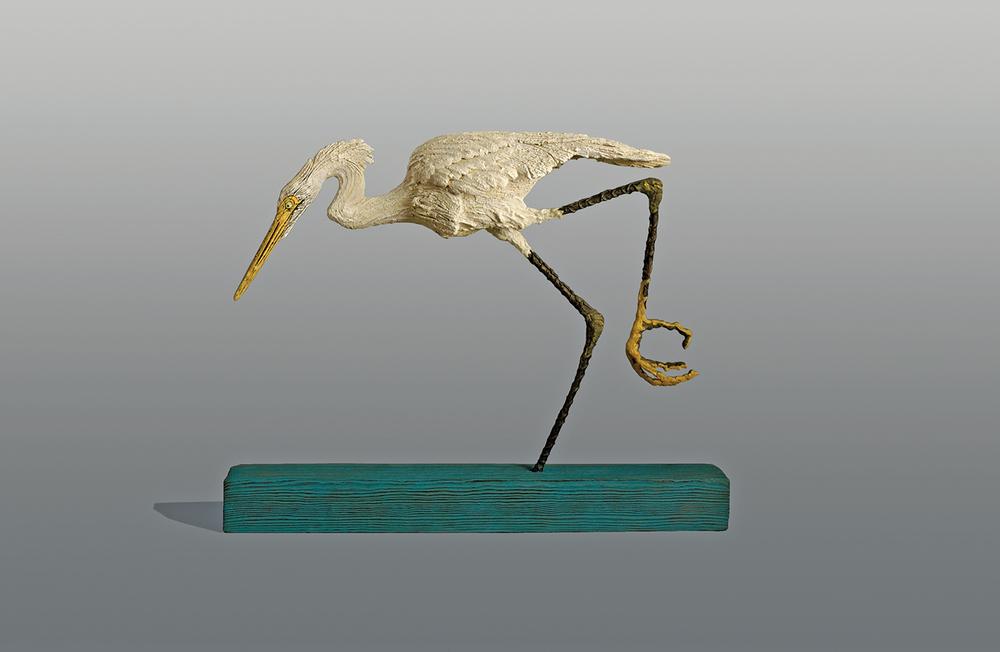 Egret  ©  51 cm high x 64 cm wide  Unique