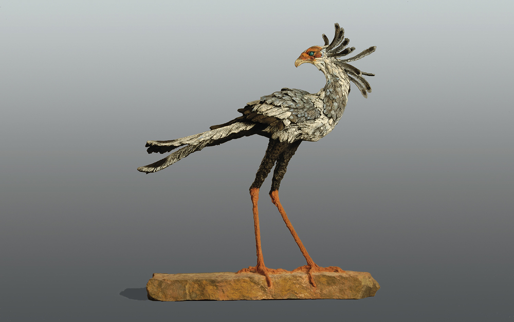 Secretary Bird  ©  74 cm high x 69 cm wide  Unique