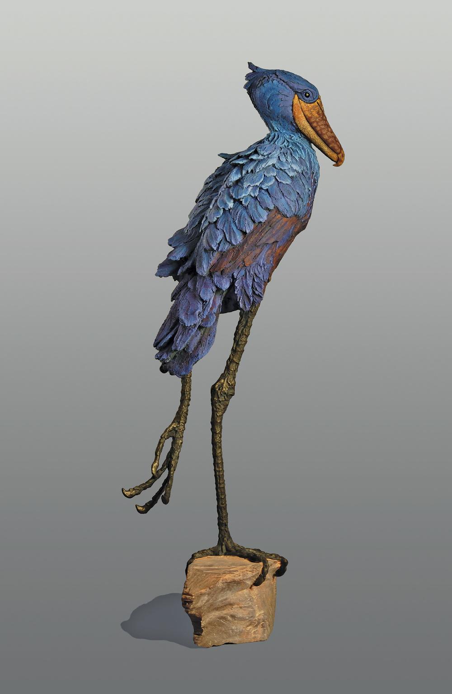 Shoebill  ©  110 cm high x 46 cm wide  Unique