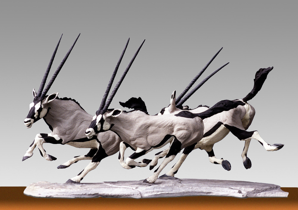 Oryx Group   ©  43 cm high x 76 cm wide  Unique