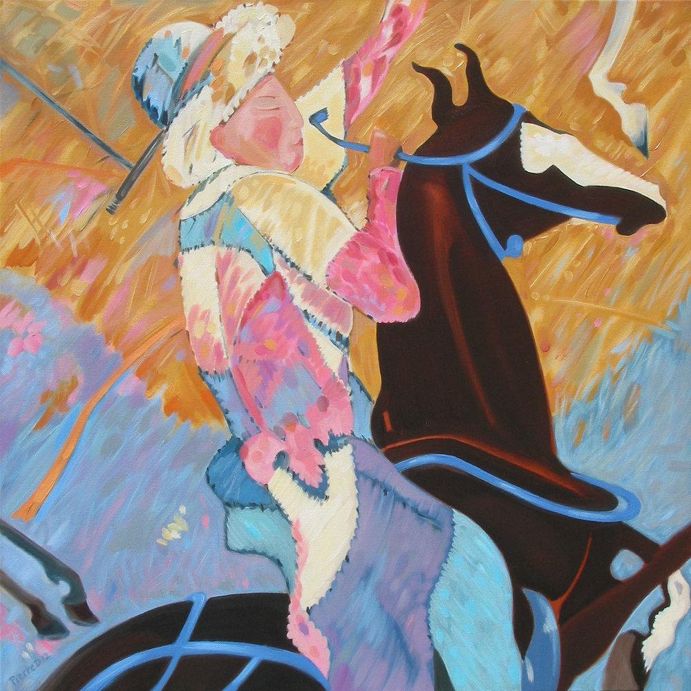 Persian IV Jeu des Rois (Bottom Left) ©  Oil on canvas  76 cm high x 76 cm wide