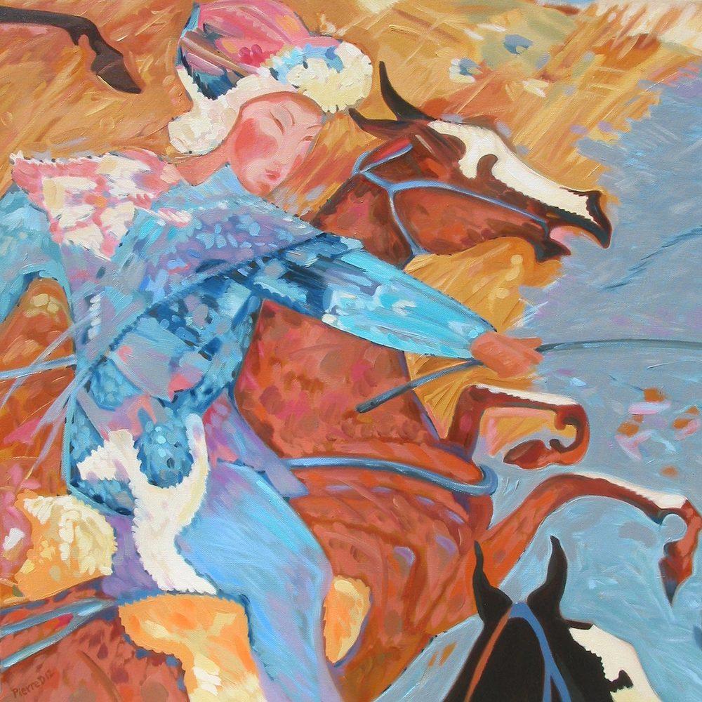 Persian V Jeu des Rois (Bottom Centre) ©  Oil on canvas  76 cm high x 76 cm wide