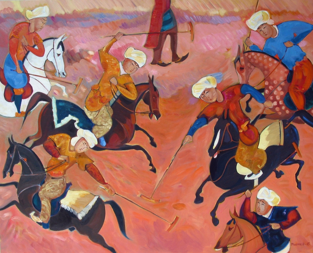 Rosa Ispahan  ©  Oil on canvas  80 cm high x 100 cm wide