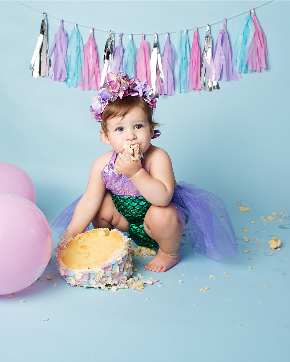 Cake smash birthday sessions, Taunton area..jpg