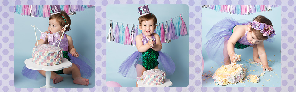 Cake smash and splash sessions in Wellington near Taunton.