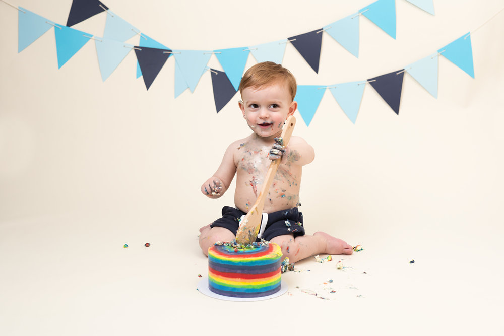 Cake smash and splash photography sessions, Taunton area, Somerset..jpg