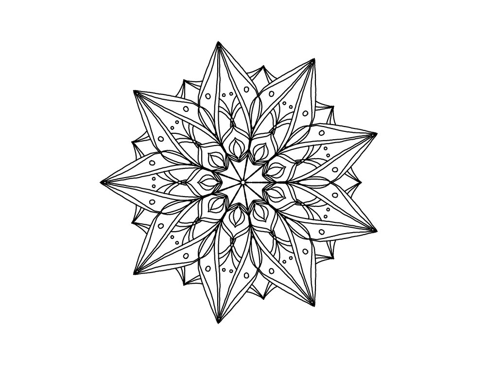 mandala colouring page- week one