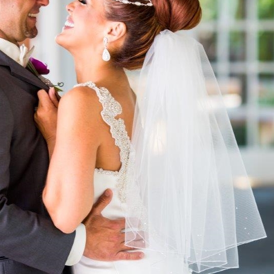 """Very Bouffant"" Bridal Veil"