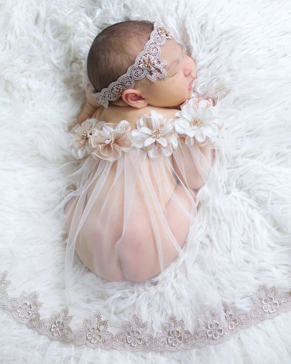 """Chamille"" Newborn Headband and Portrait Wrap"