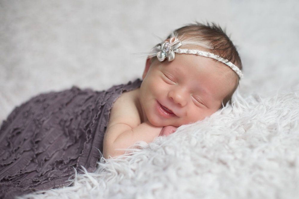 """Clarinda"" Newborn Feather Headband"