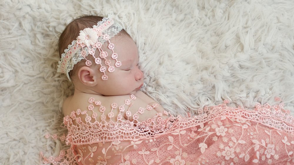 """Fringy"" Newborn Headband and Matching Wrap"