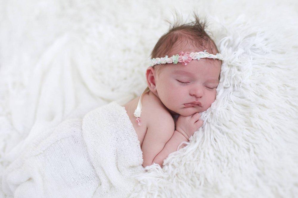 """Emeline"" Newborn Headband"