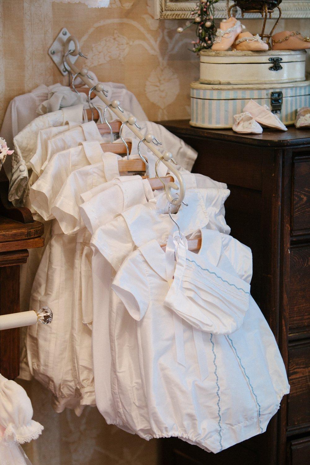 Isabel Garreton Baby Boy Christening Rompers