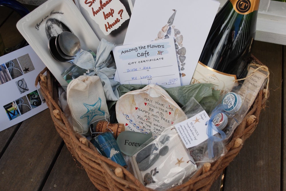 Our engagement gift to Brielle and Alex was a potpourri of things loved and collected on the Vineyard. The real surprise was a daytime sail on board the beautifully restored Tigress from  Catboat Charters .