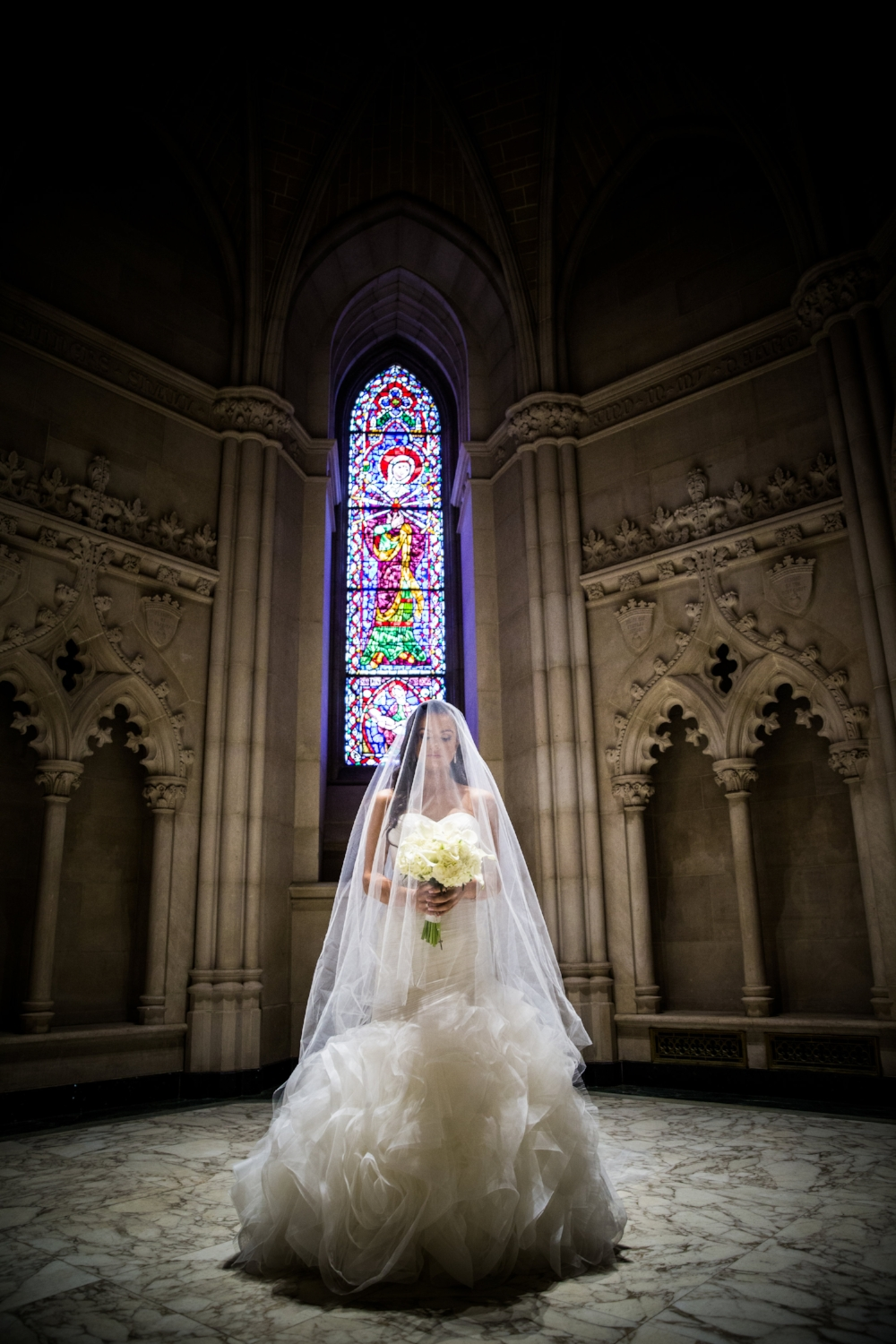 One of the most breathtaking shots in my design career taken at Cathedral Basilica of the Sacred Heart by The Bleu Studio.