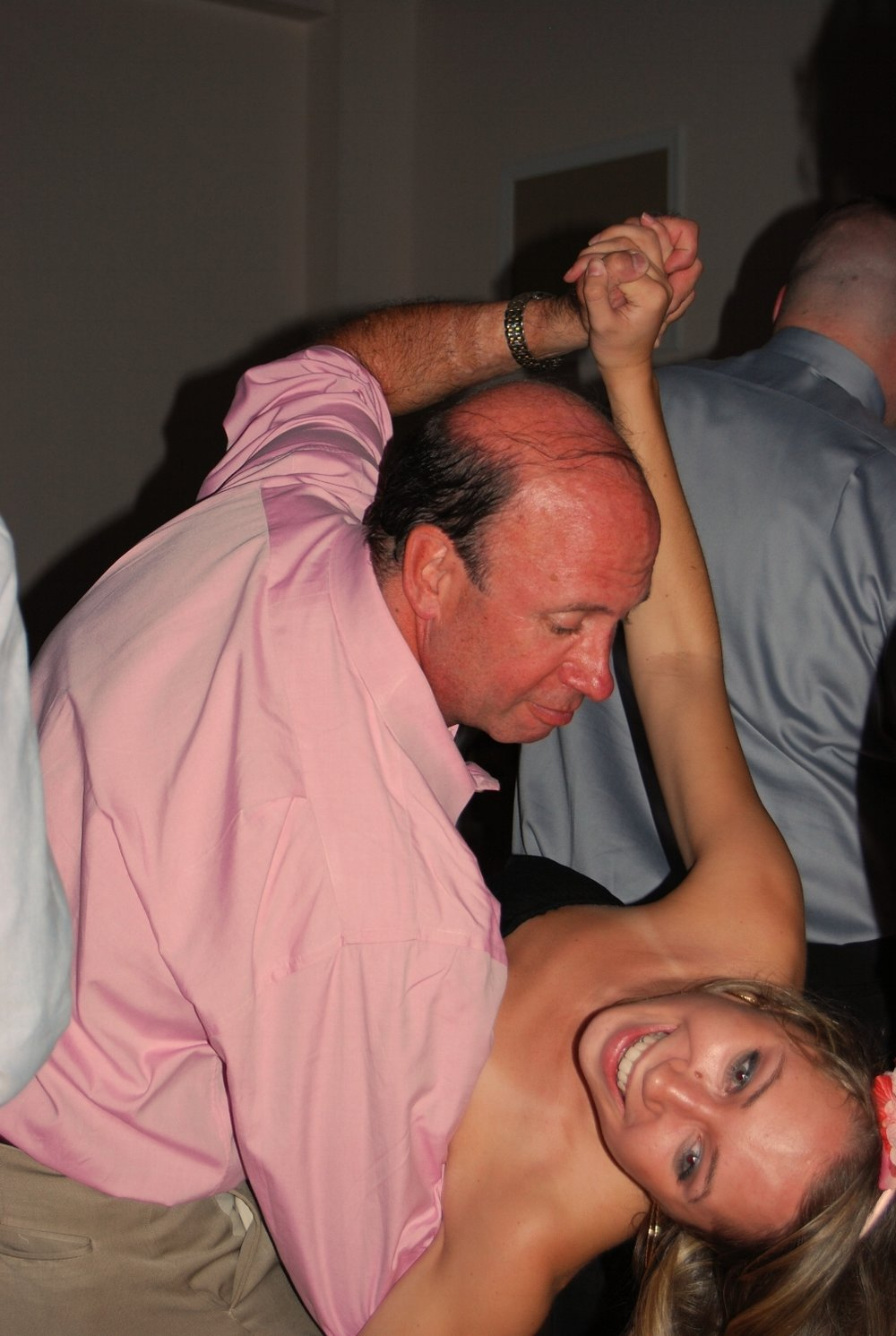 The dip is a common dance move for the Hunts, especially at weddings.