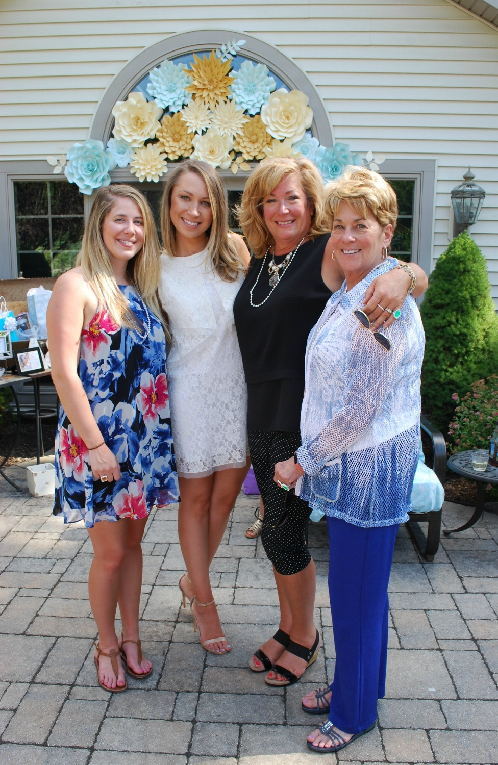 Brielle's in-laws-to-be came from Pennsylvania to shower her with love.  Candace married Andrew , Alex's brother, on May 6th. This was Kristin's second celebration at the Hunt home and Mimi's first. They are such fun people we know this is only the beginning of many to come.