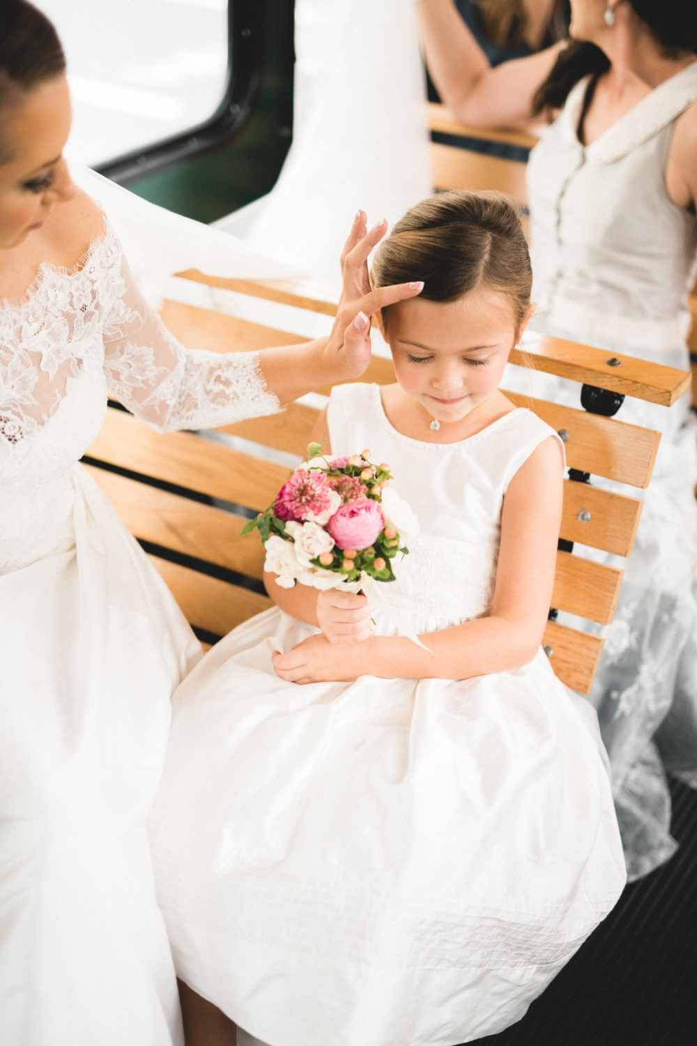 Brielle always knew Abbey would be her flower girl, since the day she was born. It was so important to Brielle that Abbey was near. Abbey's part in this day was important to her heart.