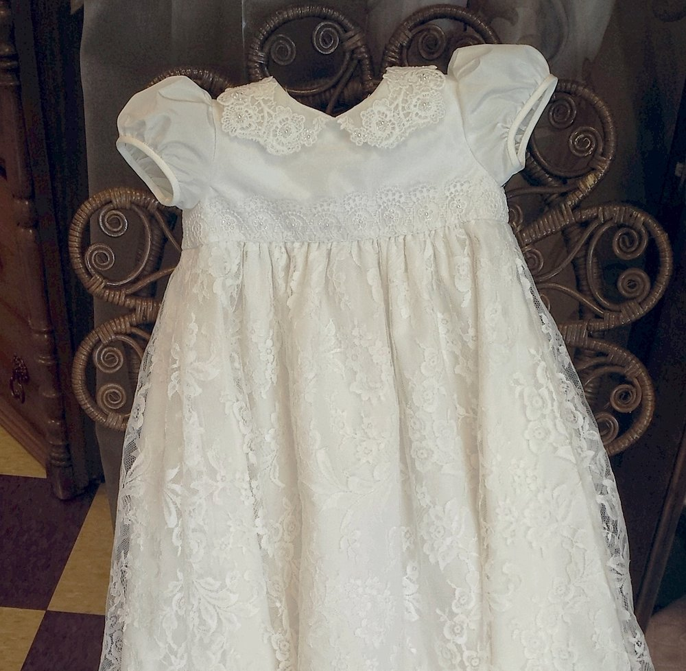 """AnnaLynn"" Couture Christening Gown"