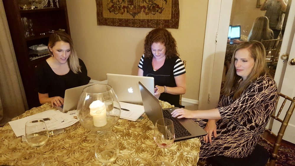 Our final planning meeting at Historic Mankin Mansion left us feeling at ease. All of the details were in the hands of three very capable and experienced wedding planners.
