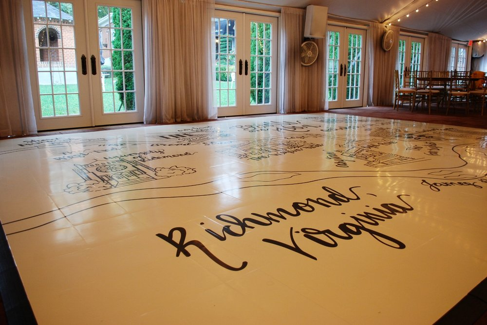 Historic Mankin Mansion is an incredible wedding venue all by itself, but when the dance floor was completed this venue looked like a million bucks!