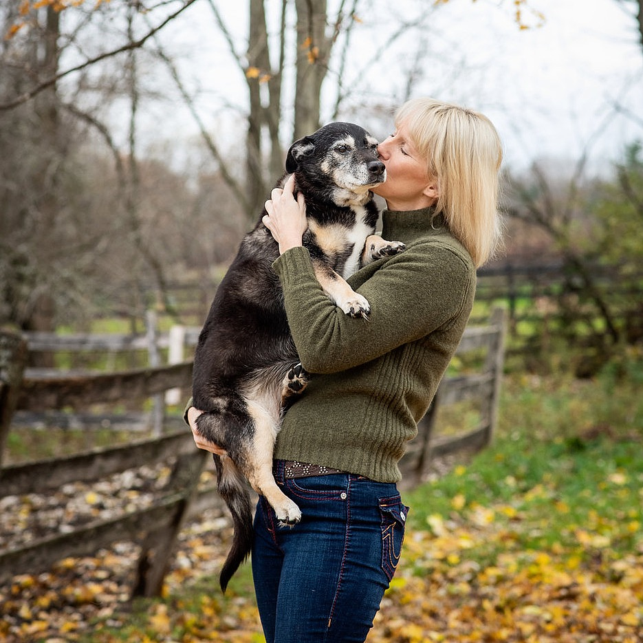 Photographer Tracey Buyce and her pup, Roxy.  Tracey's Instagram  feed is full of all kinds of love.