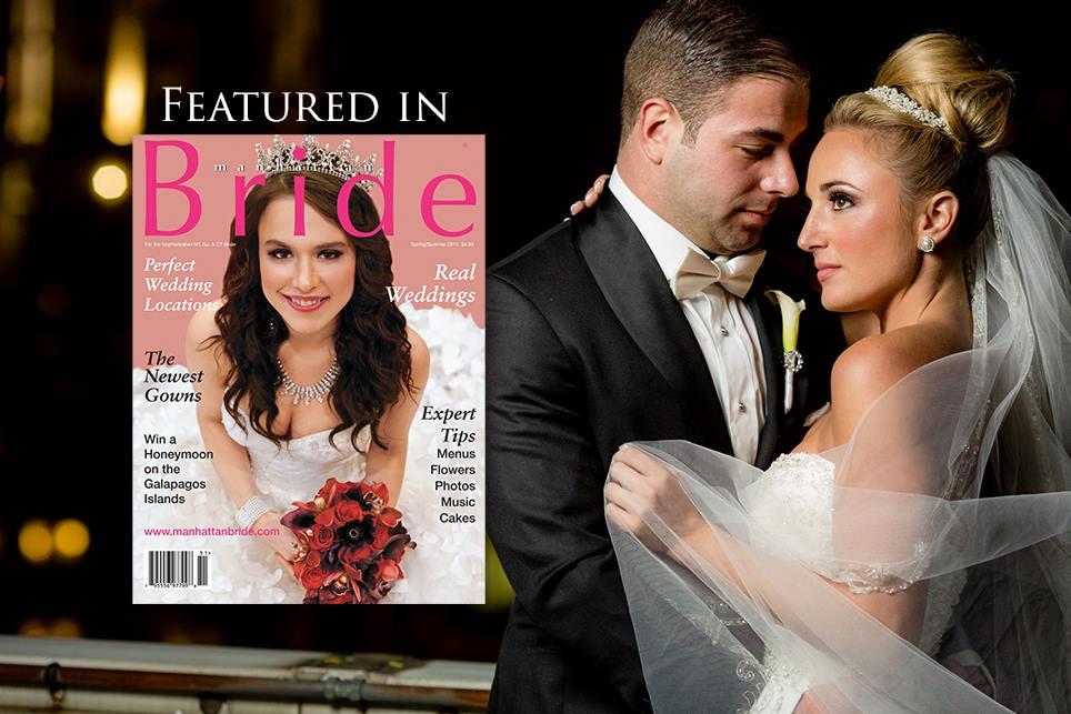 Shayna's wedding was featured in Manhattan Bride Magazine