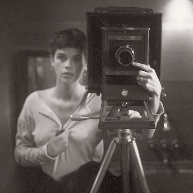 #SallyMann 1974 in studio self portrait