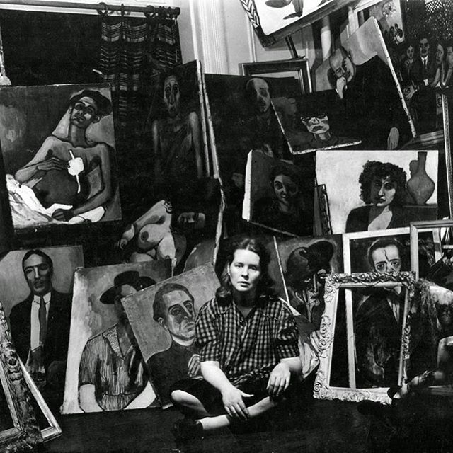 Alice Neel by Sam Brody 1944 #AliceNeel