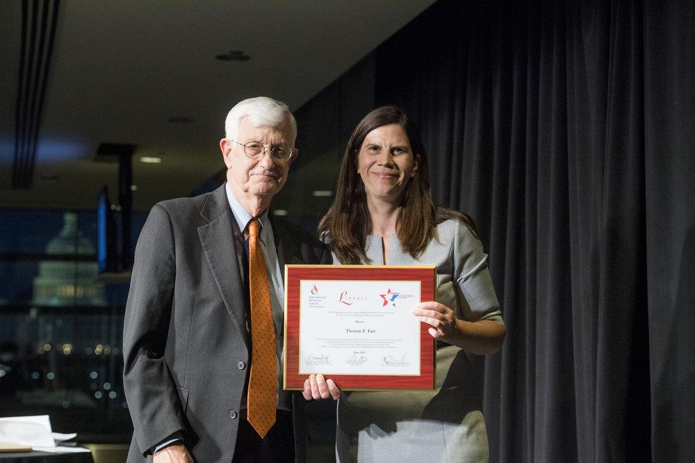Presentation of International Award