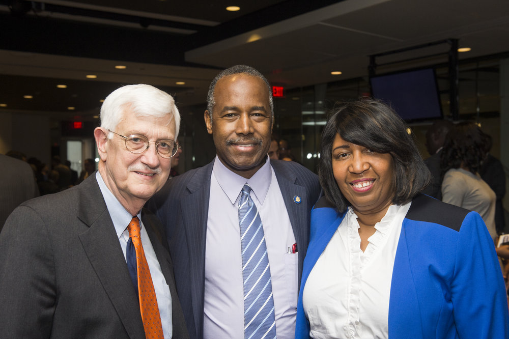 Tom Farr and Dr. Ben and Candy Carson