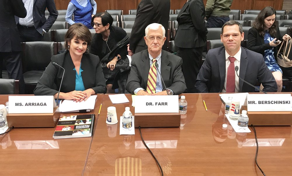 Kristina Arriaga, United States Commission on International Religious Freedom, Thomas Farr, Religious Freedom Institute, Rob Berschinski, Human Rights First (L-R)