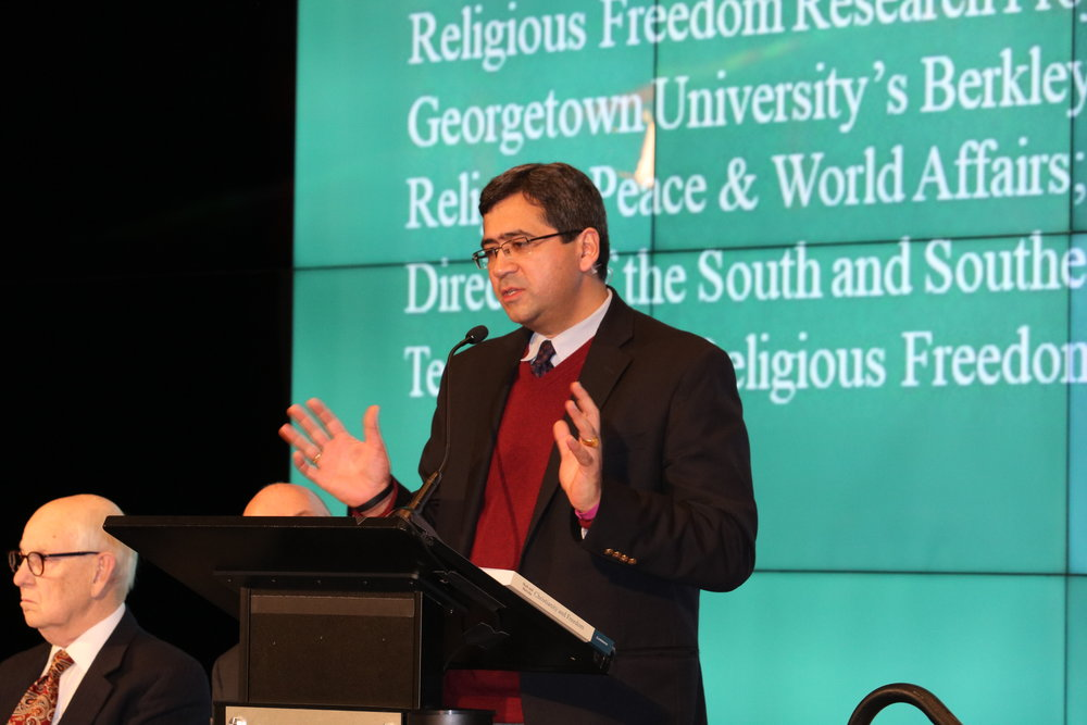 Timothy Shah delivering remarks on Religious Freedom Day | Photo: RFI/Abigail Galvan