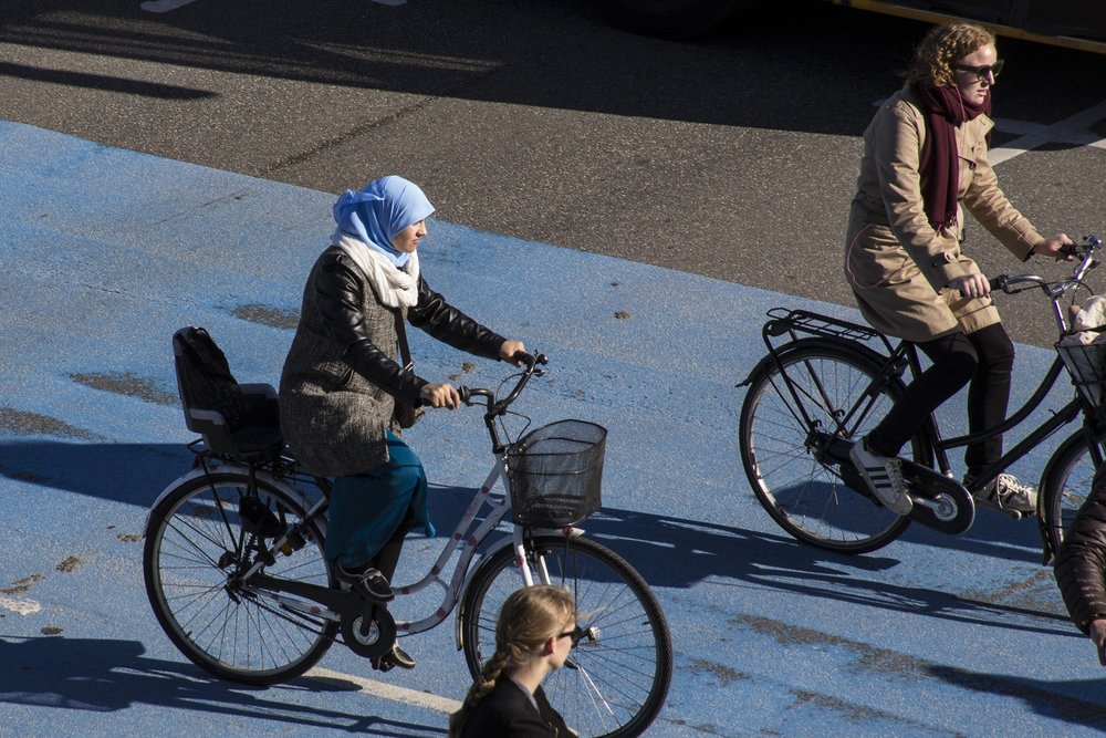 Women riding in Copenhagen, Denmark. Photo: Flickr/Cycle Chic Copenhagen_55.