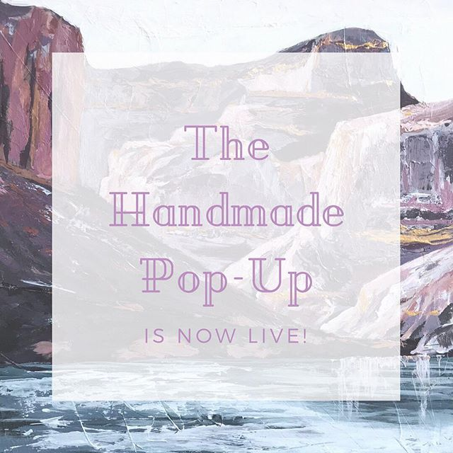 It's officially here! @thehandmadepopup has opened its doors to the public for the next 12 days! You can find the handmade goods of over 125 talented makers and artists, everything from jewelry to art to clothing, and lots more. You guys, there are some seriously gorgeous items. I'll be sharing a few of my faves in my stories today! On my end, I have listed four original framed paintings, as well as sets of greeting cards. Such a great place to find lots of unique goods made by hand in small batches. There is limited stock on all items, so make sure to grab yours before it's gone.🙌🏻 www.thehandmadepopup.com