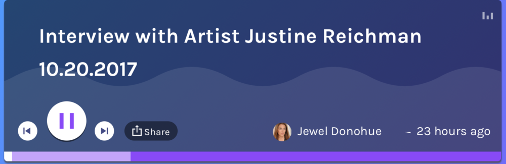 CLICK LINK BELOW TO HEAR JUSTINE'S RADIO INTERVIEW Justine Reichman ONE ON ONE with Jewel Donohue