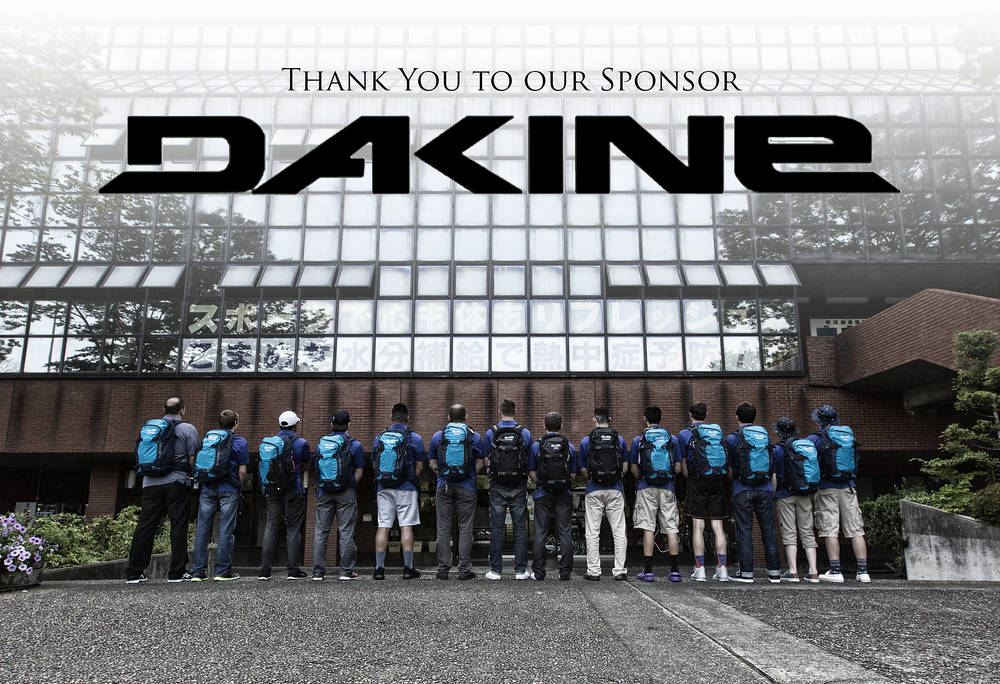 Dakine sponsored our team with great backpacks and luggage www.dakine.com