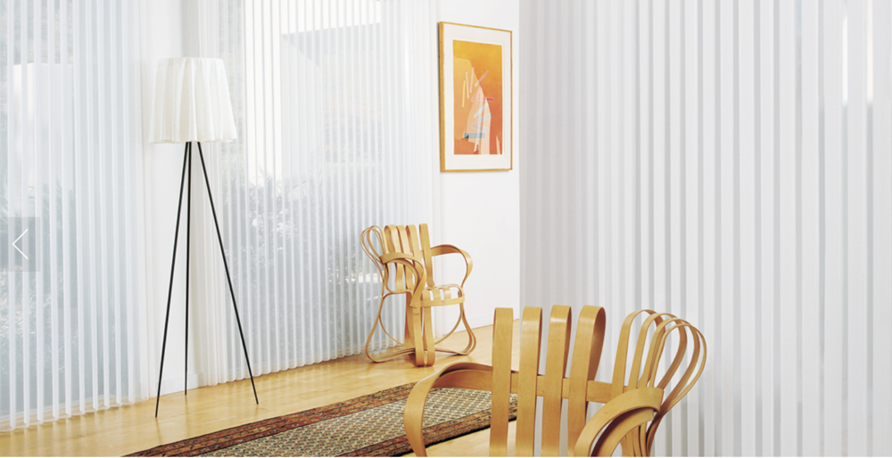 Luminette®  from Hunter Douglas. Fabric/Material Angelica TranslucentColor Angel Wing