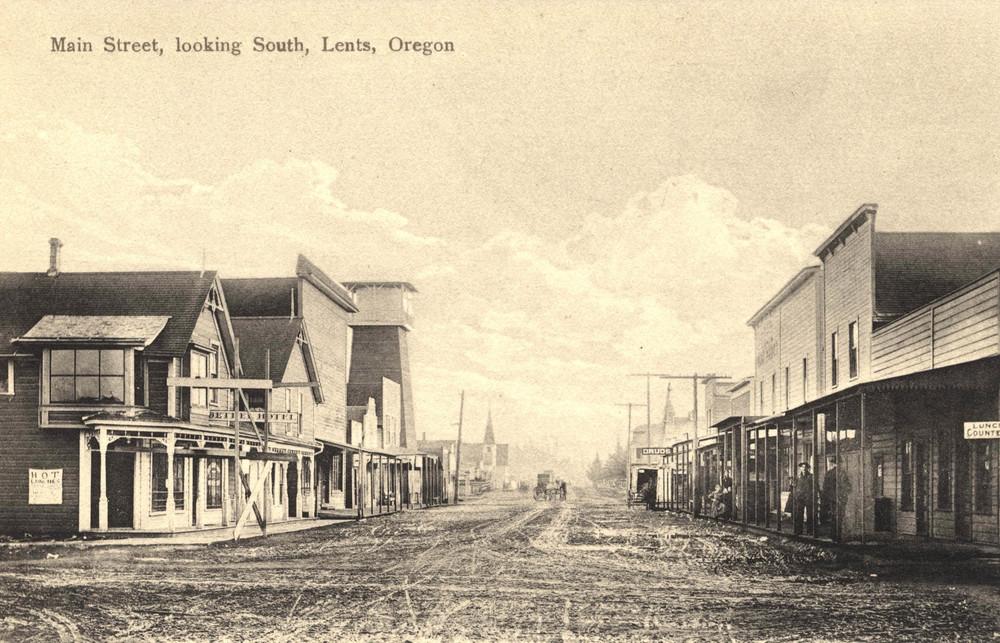 Lents Main Street circa, 1910